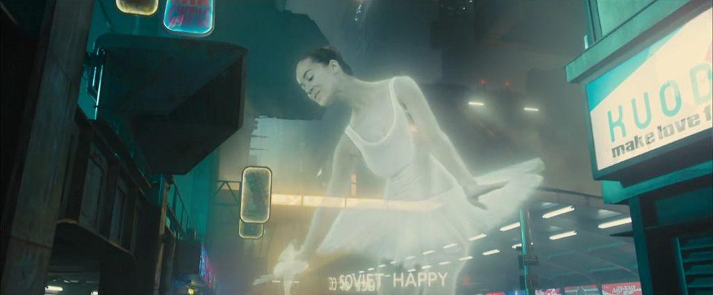 Holographic ballerina in Blade Runner 2049