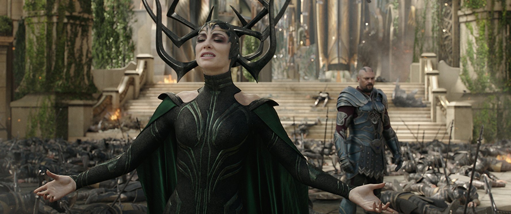 Hela (Cate Blanchett) bloodlessly killed a lot of guys in Thor: Ragnarok