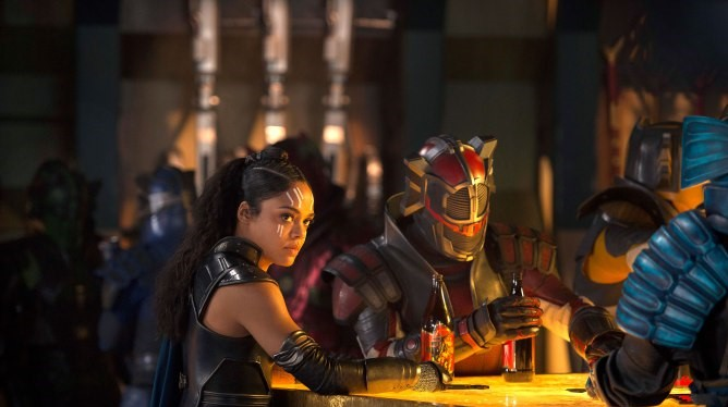 Tessa Thompson is one hard-drinking Valkyrie